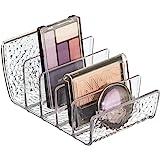 iDesign rangement maquillage, petite boîte de rangement en plastique pour maquillage avec 5 compartiments, bac de rangement v