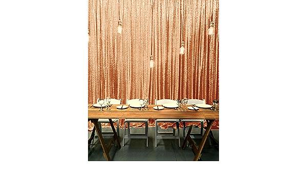 Shinybeauty Pailletten Hintergrund 8 Ftx8ft Pailletten Vorhang Hintergrund Photo Booth Hochzeit Props Glitter Party Hintergrund Dekorationen Polyester Mischgewebe Rosegold 8ftx8ft Küche Haushalt