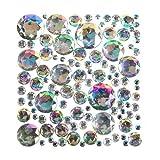Schillernde Schmucksteine aus Acryl - zum Basteln und Aufkleben für Kinder - für Grußkarten und Kostüme - 200 Stück