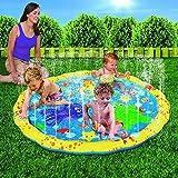 SVNA Planschbecken für Kinder Baby Aufblasbares Spielcenter 3-in-1-Sprinkler Sprinkler-Spritzschutz für Kinder 39 Zoll für das Spielen im Freien