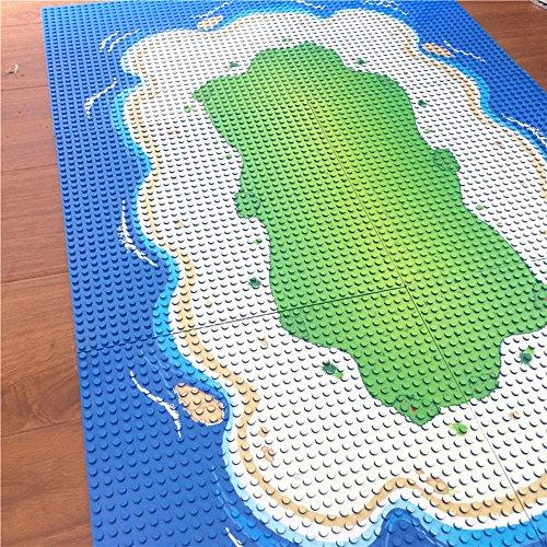 Modbrix Bausteine Insel 6 x Grundplatte Inselplatte Set 32 x 32 Noppen Bauplatte, 25.5 x 25.5 cm thumbnail