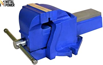 """Metal Power 100 mm (4"""") Engineers Bench Vice with Fixed Base (Structure Blue)"""