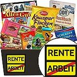 Rente | Schokoladen Set | Geschenkset | Rente | Schokoladenkorb | Geschenk für Rentenbeginn | Geschenk für Rentner | GRATIS DDR Kochbuch