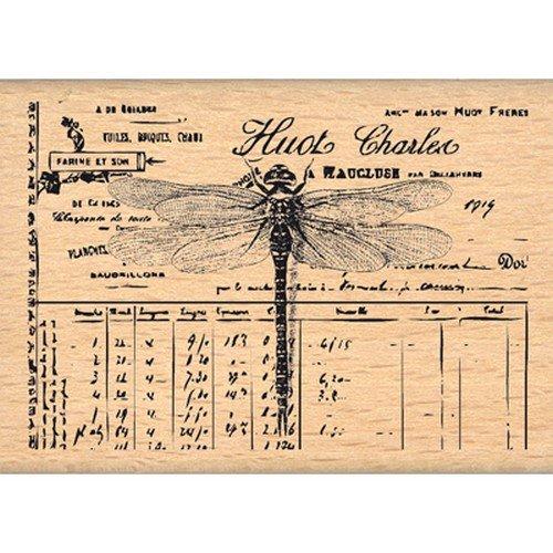 Florilèges Design fe213009Stempel Scrapbooking Kleine Libelle beige 5x 7x 2,5cm