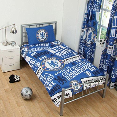 Offizielles Chelsea Football Club Bettwäsche Set Bettbezug Bett Jungen Mädchen Kid Kinder, Bedding - Patch Duvet, Einzelbett
