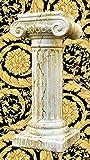 Medusa Säule Mäander Style Dekosäule Marmoriert 100cm Griechische Säulen Barock Podest Modern Styl 1012 k-121 Kunstharz ( ALLWETTER FEST ) (K-121)