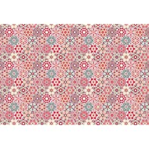 Printodecor 0041-657968254510 Alfombra Vinílica Impresa con Diseño Vintage, Multicolor, 143 x 97 cm