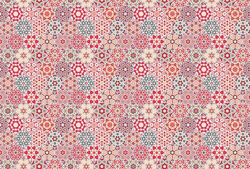 Printodecor - Alfombra Vinílica Impresa, Multicolor (Vintage Ilusion Optica), 143 x 97 cm