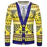 UFODB Herren Sweatshirt Männer Langarmshirt Herbst Mode Rundhalsausschnitt Lange Armel Drucken T-Shirt Jacke Outwear Pullover