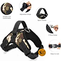 Sage Square Adjustable Padded Dog Sport Harness with Lifting Handle Extra Confortable (Large Dogs)