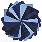 Tesan Denim-Patches ,Eisen Auf Patches Bügeleisen auf Denim Cotton Patches,3 Farbe ,18 Stück