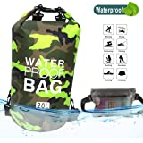 Idefair Waterproof Dry Bag, Floating Dry Backpack Beach bag Lightweight Dry Sack for The Beach, Boating, Fishing, Kayaking, S