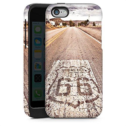 Apple iPhone 5s Housse étui coque protection USA Biker Rue Cas Tough brillant
