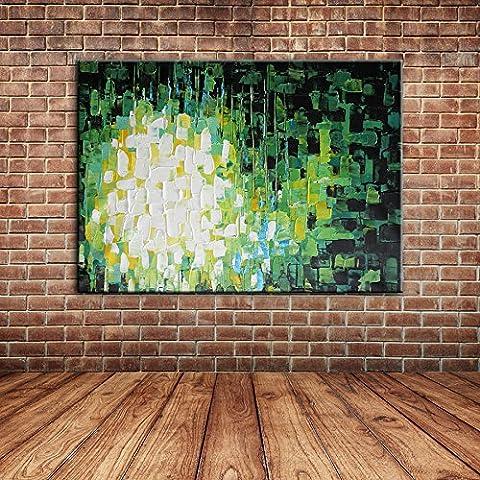 IPLST@ Pintura al óleo moderna abstracta moderna del arte en la lona, arte pintado a mano de la lona para el dormitorio, decoración de la sala de estar -24x36inch (ningunos marco, sin camilla)