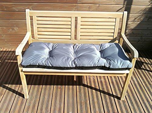 Gartenbankauflage Bankkissen Sitzkissen Polsterauflage Sitzpolster TP3 Grau 120x50x8-12 cm