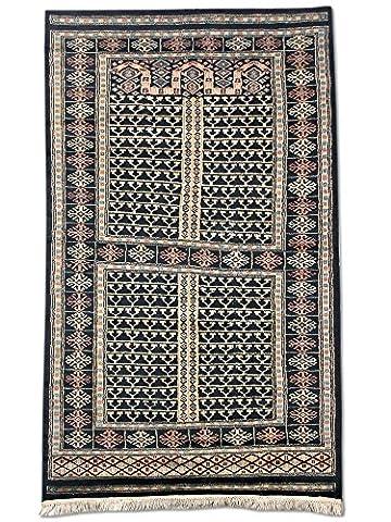 Handgeknüpfter Hatschlu Teppich, Schwarz, Wolle, 95 X 158 cm