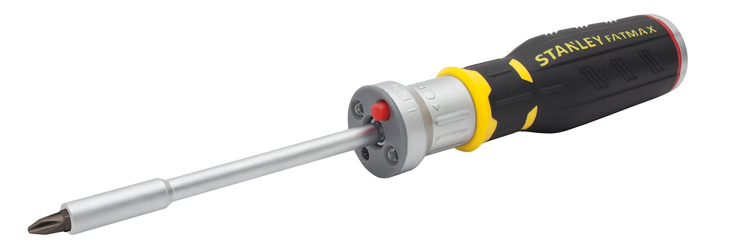61cFktxQLGL - STANLEY FMHT0-62689 - Multipuntas FatMax de carraca con LED. 12 puntas