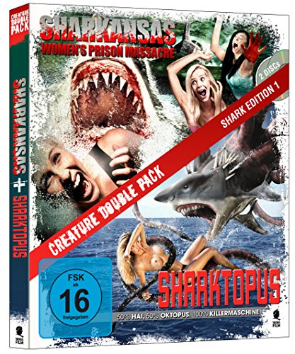 Creature Double Pack - SHARK Edition 1: Sharktopus & Sharkansas Women's Prison Massacre [Blu-ray] (2-Disc Set)