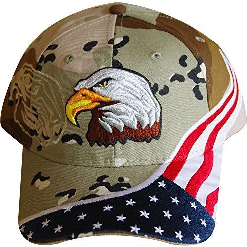 USA Flagge hat-bestickt American Flagge & Adler Baseball Cap mit 100.000Stickerei Stiche, camouflage -