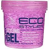 Eco Styler Gel de coiffure - Formule anti-démangeaison sans alcool - Tenue parfaite pour ondulation - Pot rose
