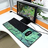 Goliathus Green Tappetino Gaming Pad per Mouse e Tastiera 70 x 30 Extra Large per Videogame