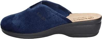 Pantofola Invernale in Velour Sottopiede in Pelle InbluBJ111