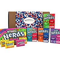 Wonka Nerds American Candy Selection Gift Box - 10 Packs - Hamper Exclusive To Burmont's