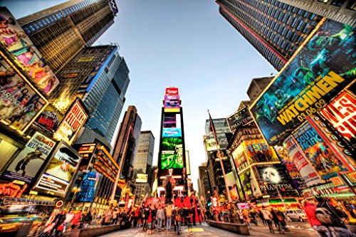 Gießerei Poster Times Square New York City NYC Beleuchtet Foto Kunstdruck von proframes 54x36 inches Poster