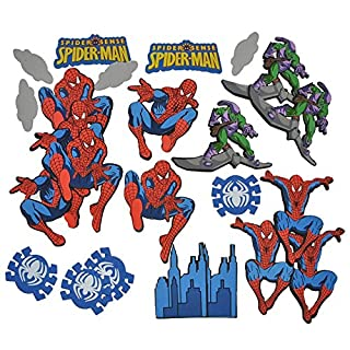 Unbekannt 24 tlg. Set 3-D Wandtattoo / Sticker - Spiderman - Moosgummi Kind für Kinder Kinderzimmer Wandsticker Aufkleber auch zum Basteln und Dekorieren Amazing Spider..