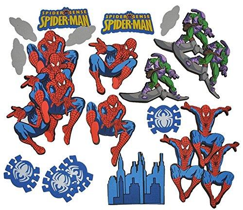 Unbekannt 24 tlg. Set 3-D Wandtattoo / Sticker - Spiderman - Moosgummi Kind für Kinder Kinderzimmer Wandsticker Aufkleber auch zum Basteln und Dekorieren Amazing Spider Man Spinne Spider-Man (Amazing Man Spider Wand)