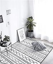 black and white stripes Carpet modern floor rug for living room kids fur bathroom shaggy nordic home Decor@A27_45x75cm