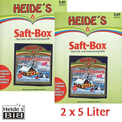 Hüttenpunsch alkoholfrei 2er-Pack, 2 x 5 Liter