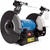 Scheppach 5903110901 dubbel slipmaskin SM200AL, mångsidig slipmaskin med enkel och skära skiva, LED-arbetslampor, justerbart