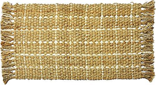 DE Colour DE CONTRASTE 3.12.13043 Alfombra de baño eco-alfombra de yute de fibra de vidrio, 60 x 110 cm, natural