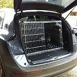 Bild: Audi Q5abschüssige Auto Hunde Käfig Travel Box Puppy Kofferraum Guard Käfige