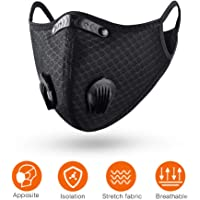 QueenNa Masque de cyclisme anti-poussière avec filtre en carbone pour moto, travail du bois, cyclisme, course à pied