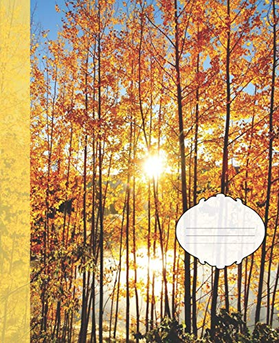 Aspen Labs (Pretty Fall Yellow Aspens Sunset Pond Nature Photograph College-ruled Lined School Composition  Notebook (Colorado Wildlife Photo Covers: Natures School Supplies, Band 11))
