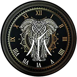 Reloj de pared de 40 cm- 'Mandala del elefante - Cree en ti mismo'