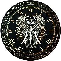 40 cm Wanduhr – Elefant Mandala – Glaub an dich´