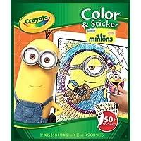 Crayola - Libro de Colorear y Pegatinas, diseño Minions ...