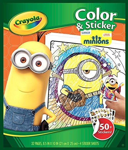 Crayola color & sticker book-minions