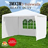 Makeonsale 3M Gazebo Marquee Wedding Tent Outdoor Camping Party Tent Wateproof White (3M)
