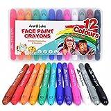 Crayones por Pintura de la Cara por Ninas, Ninos. 12 Colores Fabulosas Lavables. Perfecto por Fiestas y un regalo por cumpleaños, pascua y carnaval
