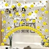 Pnizun - Kristallglas Rose Korn-Vorhang-Streifen String Wohnzimmer Schlafzimmer Fenster Tür Divider Hochzeitsdeko Valance Home Decoration [G 1M]