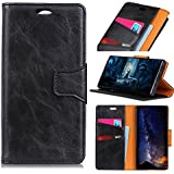 For Alcatel 1C Case, [Extra Card Slot] Codream [Wallet Case] PU Leather TPU Casing Hear [Drop Protection] Case Compatible With Alcatel 1C, Black