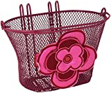 Basil Kinder Fahrradkorb Jasmin-Basket, Red/Pink, One Size, 30067