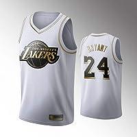 WOLFIRE SC Camiseta de Baloncesto para Hombre, NBA, Los Angeles Lakers #8#24 Kobe Bryant. Bordado Swingman Transpirable...