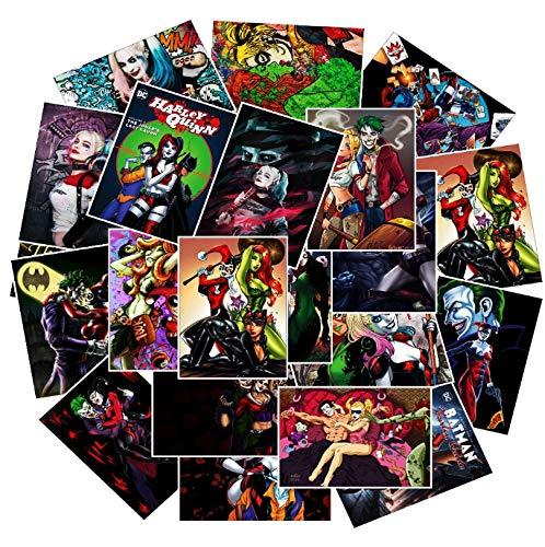 YLGG wasserdichte Anime Harley Quinn Und Die Joker PVC Aufkleber Für Laptop Motorrad Skateboard Gepäck Aufkleber Spielzeug Aufkleber 25 Teile/Los
