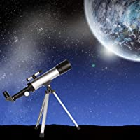 KANTHI Optical Glass and Metal Tube Refractor Amazing Land and Sky Telescope (90X Power) with Tripod and 2 Eyepieces
