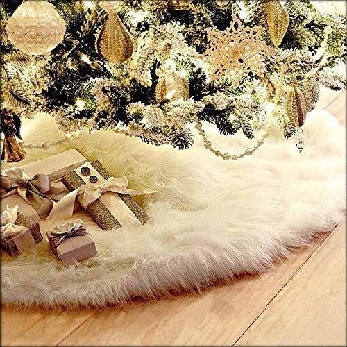SLZZ Weihnachtsbaum Rock-Luxus Plüsch Teppich Weihnachtsbaum Rock Boden Fußmatte Cover-für Weihnachten Dekoration Neu Jahr Home Party Supplies (Home Party Supplies)